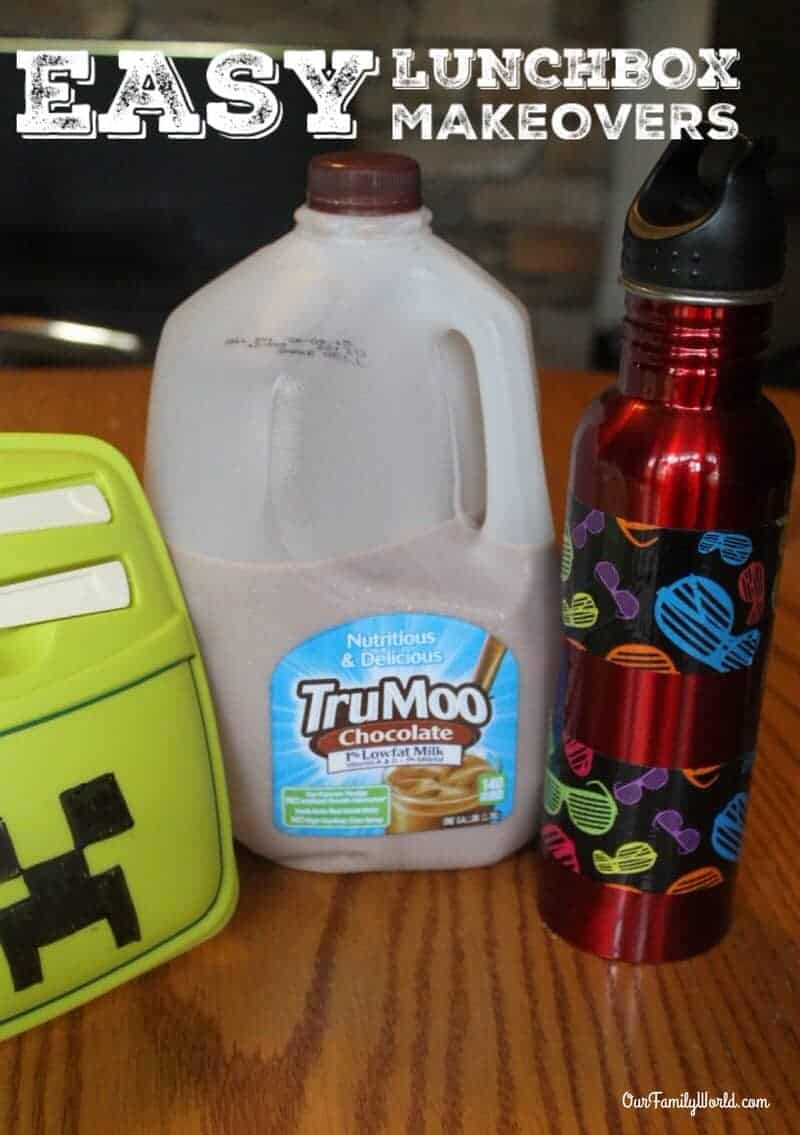 Let your kids express their personalities and give an inexpensive lunch kit a new look with this easy DIY back to school lunchbox makeover idea!