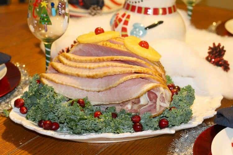 christmas-dinner-honey-glazed-ham