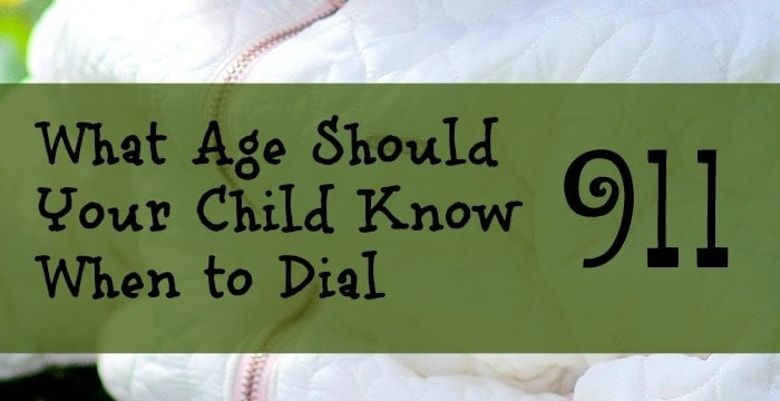 What age should your child know when to dial 911? It is a thought most parents have and hope to never have to use. Check out our thoughts here.