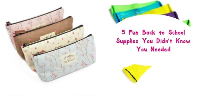 Even if you already started your back to school supplies shopping, you'll want to make room on your list for these 5 awesome extras! Your child will love them!