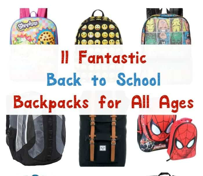 We found the best back to school backpacks for your kids! Check out our favorites for both boys and girls of all ages! Did yours make our list?