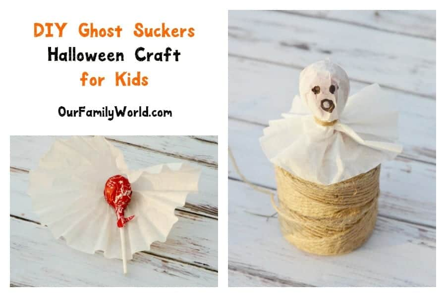 Looking for super easy Halloween crafts for kids? You can't get much simpler than our DIY ghost suckers! Check them out!