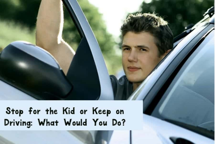 What do you do when you see a kid in distress walking down the street? Do you stop or keep going? Check out our thoughts & share yours!
