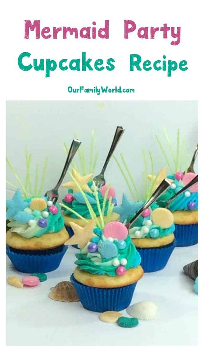 Looking for the perfect birthday party idea for little girls? Check out all the must-haves for the ultimate mermaid party, including a delicious mermaid cupcake recipe!